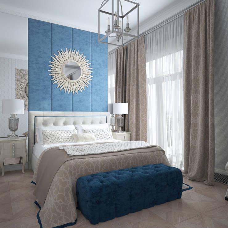 квартира в стиле Кэрри: Спальни в . Автор – Инна Азорская