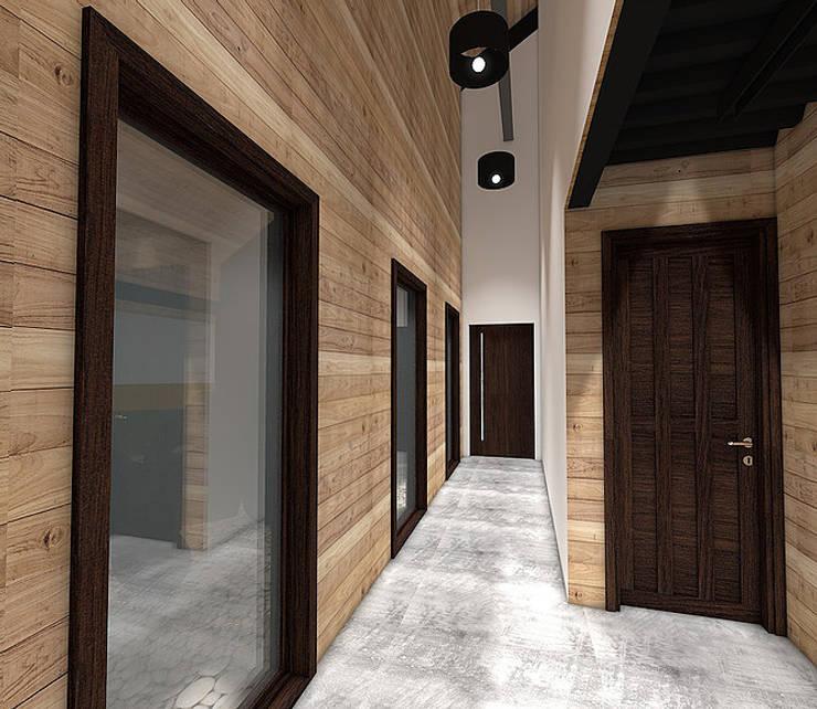 Casa MB: Pasillos y hall de entrada de estilo  por Smartlive Studio