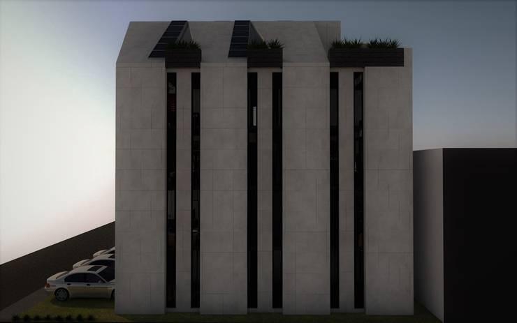 Fachada este.: Casas de estilo  por Esse Studio, Moderno Concreto