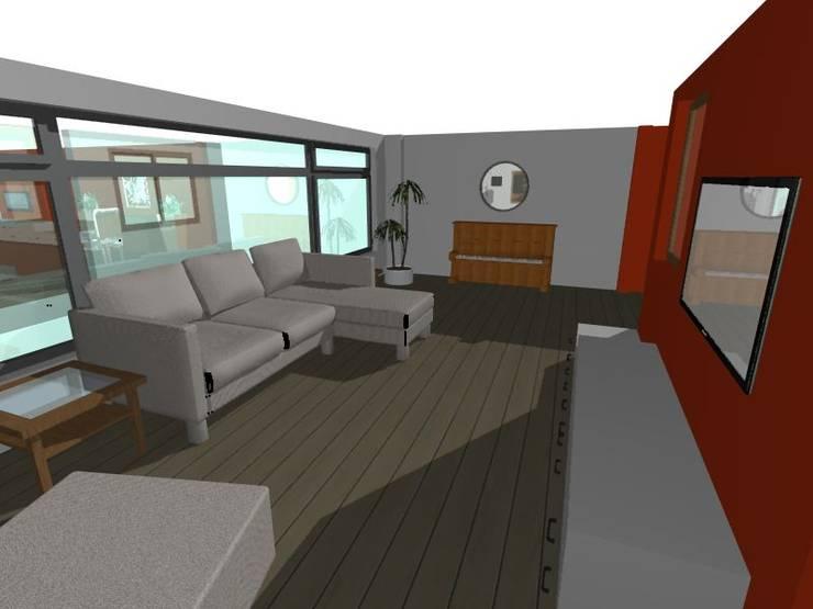 Diseño del espacio:  de estilo  por InGeniotika, Moderno Madera Acabado en madera