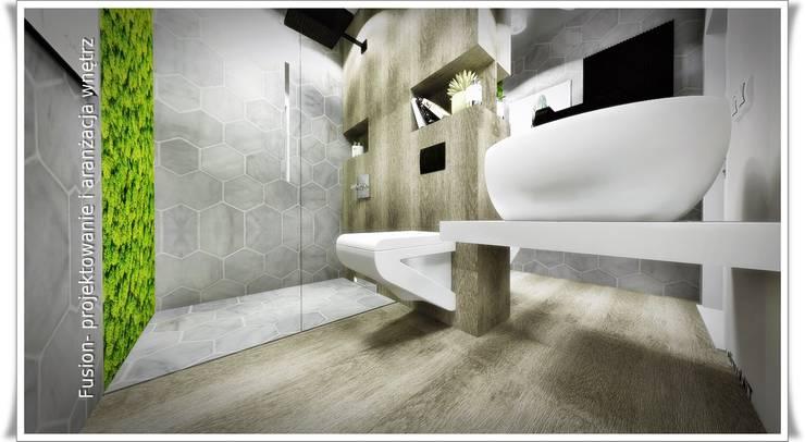 łazienka Z Mchem By Fusion Projektowanie I Aranżacja Wnetrz