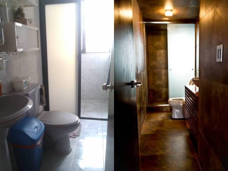 Salle de bains de style  par Eidética