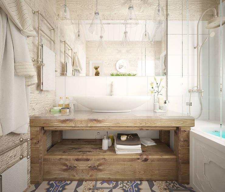 Phòng tắm by Дизайн-бюро Анны Шаркуновой 'East-West'