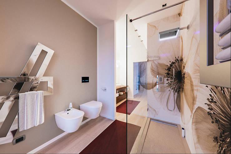 Un attico in stile loft in Milano: Bagno in stile  di Annalisa Carli