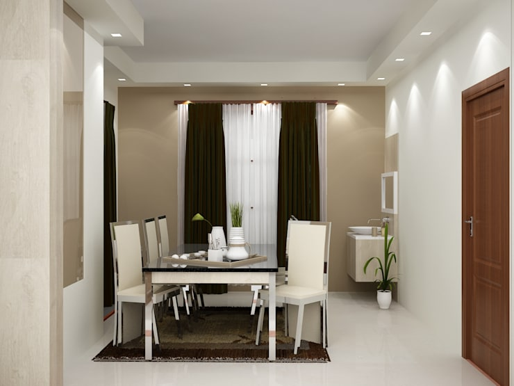 Modern interiors:  Dining room by Cazina