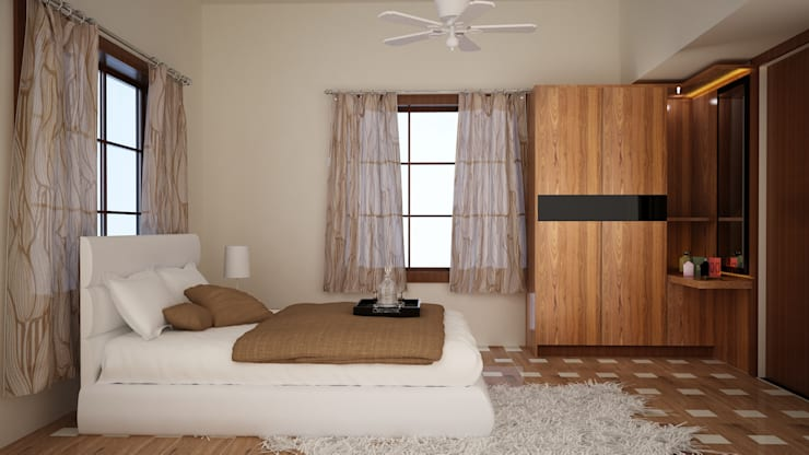 Modern interiors:  Bedroom by Cazina