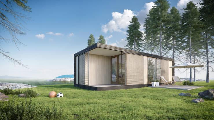 Moderne stacaravan:  Huizen door Bongers Architecten, Modern
