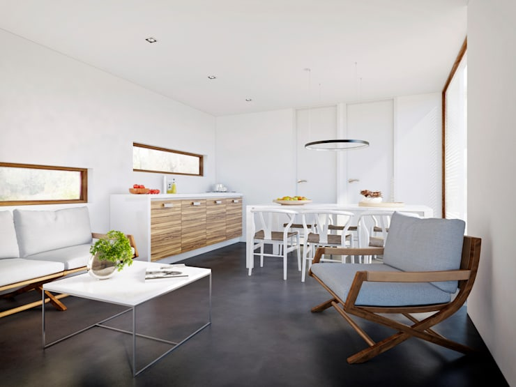 Living room by Bongers Architecten, Modern