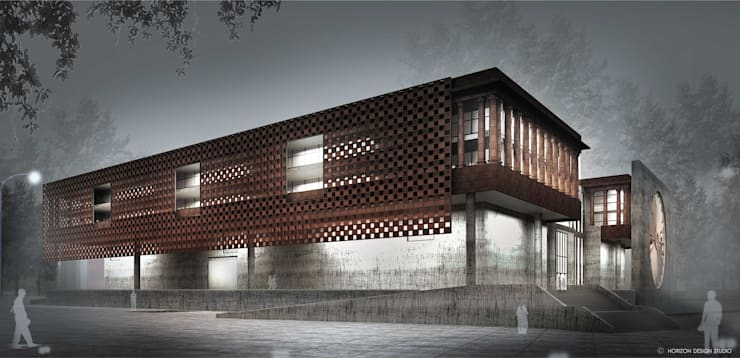 WEST SIDE VIEW OF PROPOSED MUSEUM:   by Horizon Design Studio Pvt Ltd