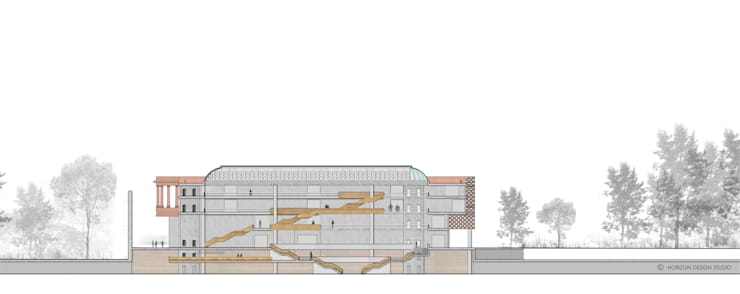SECTION A A :   by Horizon Design Studio Pvt Ltd