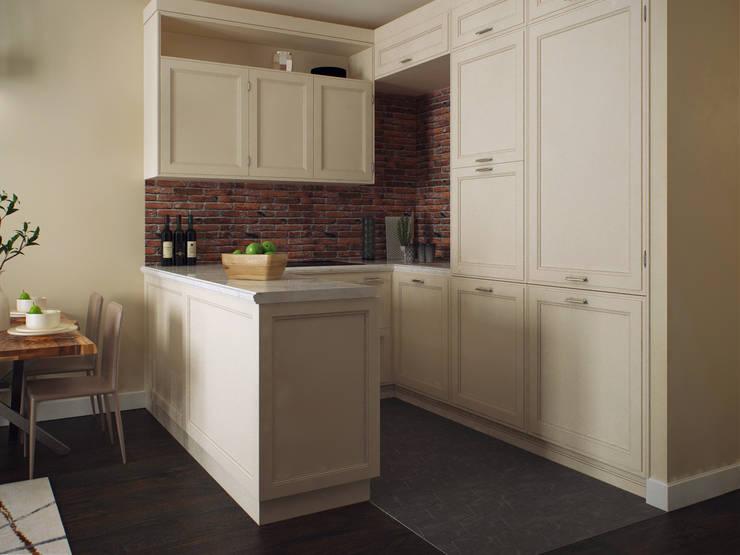 Квартира в скандинавском стиле, 90 кв.м.: Кухни в . Автор – Студия дизайна интерьера Маши Марченко