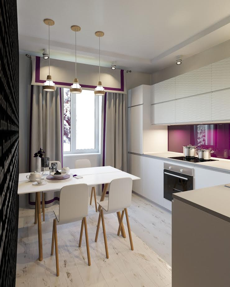 ห้องครัว โดย Студия дизайна интерьера Маши Марченко, มินิมัล