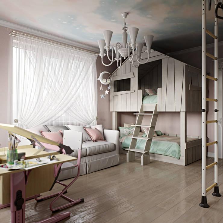 ห้องนอนเด็ก โดย Студия дизайна интерьера Маши Марченко, คลาสสิค
