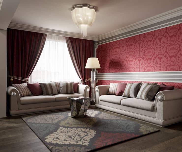 ห้องนั่งเล่น โดย Студия дизайна интерьера Маши Марченко, คลาสสิค