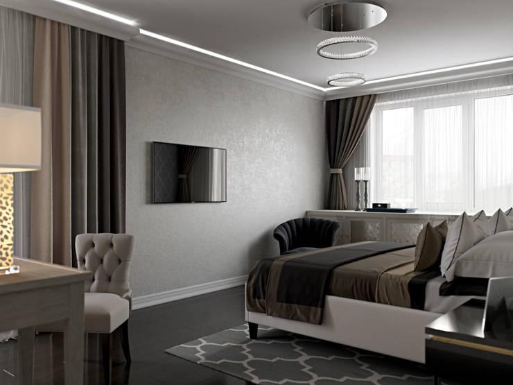 ห้องนอน โดย Студия дизайна интерьера Маши Марченко, คลาสสิค