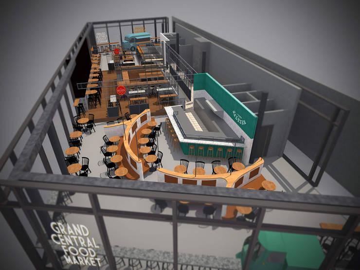 Grand Central Food Market | Interieur Ontwerp Bar – Restaurant:   door Tubbs design