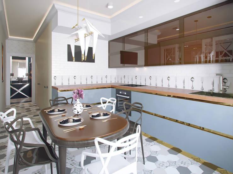 Квартира в ЖК «Европейский», 67 кв.м.: Кухни в . Автор – Студия дизайна интерьера Маши Марченко