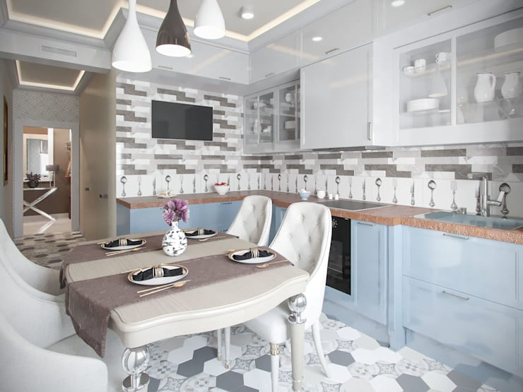 Dapur oleh Студия дизайна интерьера Маши Марченко, Modern