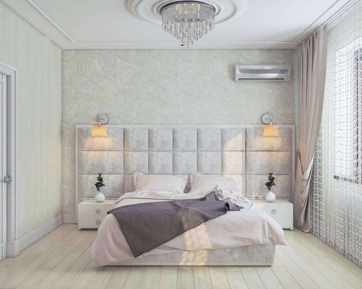 Много света: Спальни в . Автор – Mantra_design