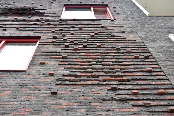 Energieneutrale woning Buiksloterham:  Huizen door CUBE architecten