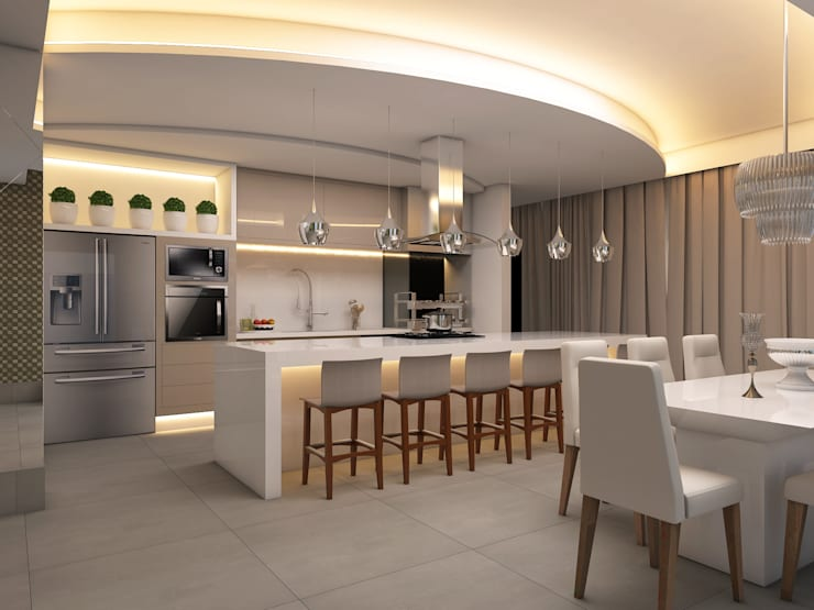 Cocinas de estilo moderno por Caio Pelisson - Arquitetura e Design