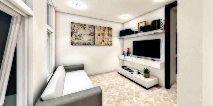 ESTANCIA: Salas de estilo  por WIGO SC, Minimalista