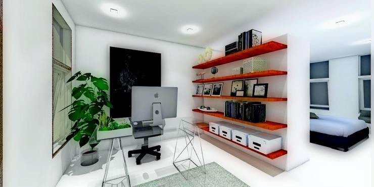 ESTUDIO: Estudios y oficinas de estilo  por WIGO SC, Minimalista Cerámico