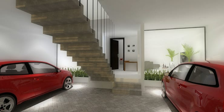 GARAJE: Garajes de estilo  por WIGO SC, Minimalista Concreto