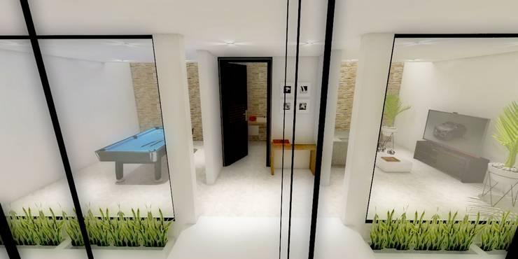 HALL: Pasillos y recibidores de estilo  por WIGO SC, Minimalista Concreto