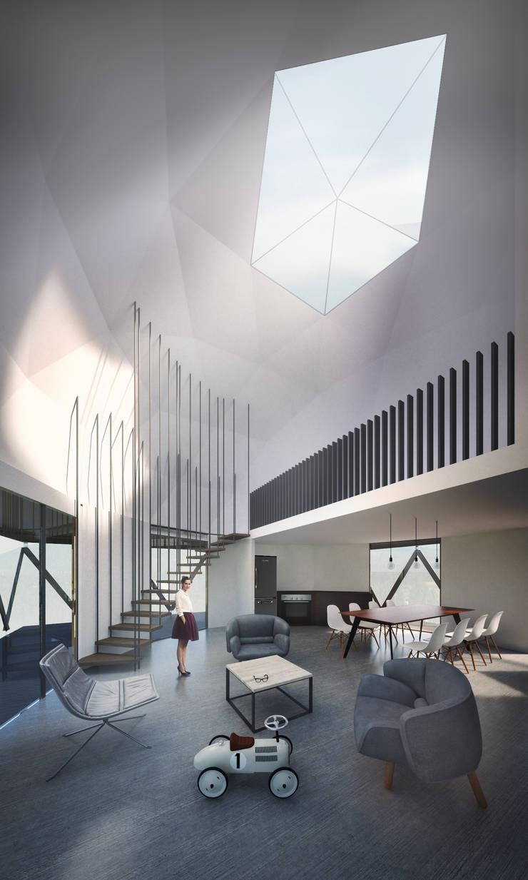 Domo/Living comedor: Livings de estilo  por B+V Arquitectos