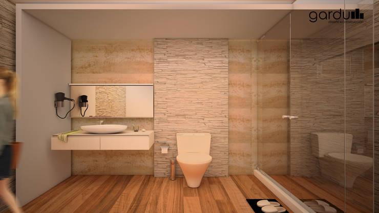 Baño moderno : Baños de estilo  por GarDu Arquitectos