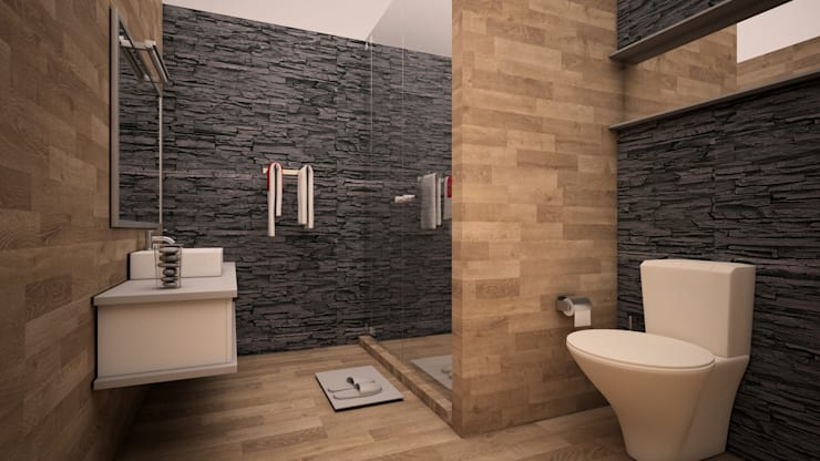 Baño moderno : Baños de estilo  por GarDu Arquitectos , Minimalista
