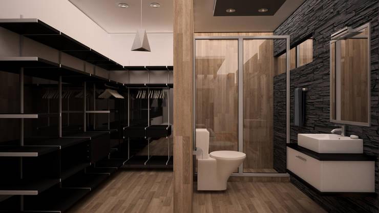Baño/Vestidor : Baños de estilo  por GarDu Arquitectos , Minimalista Madera Acabado en madera