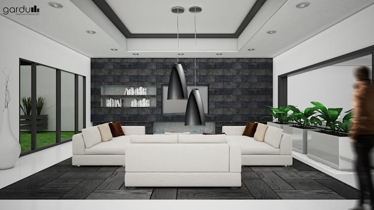 Sala Moderna: Salas de estilo  por GarDu Arquitectos , Minimalista