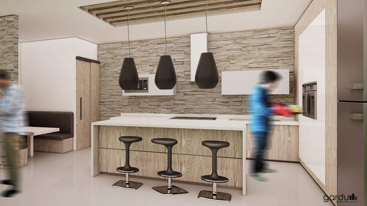 Cocina Moderna : Cocinas de estilo  por GarDu Arquitectos , Minimalista Piedra