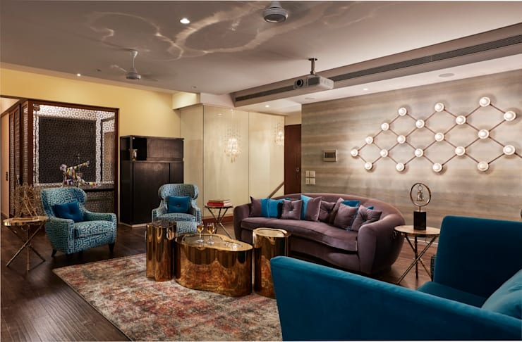 family room: modern Media room by Interface