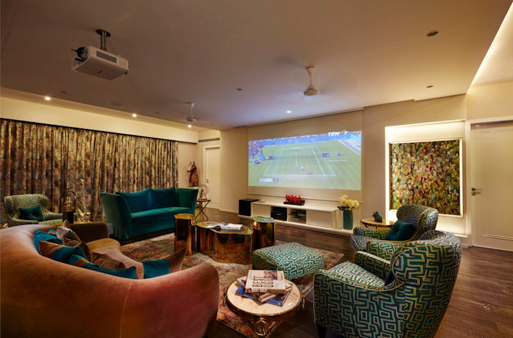 family cum entertainment room: modern Media room by Interface