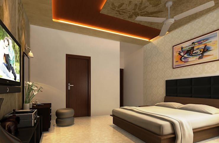 2nd photo of M. bed room: modern  by Altitude Interior designer ,Modern