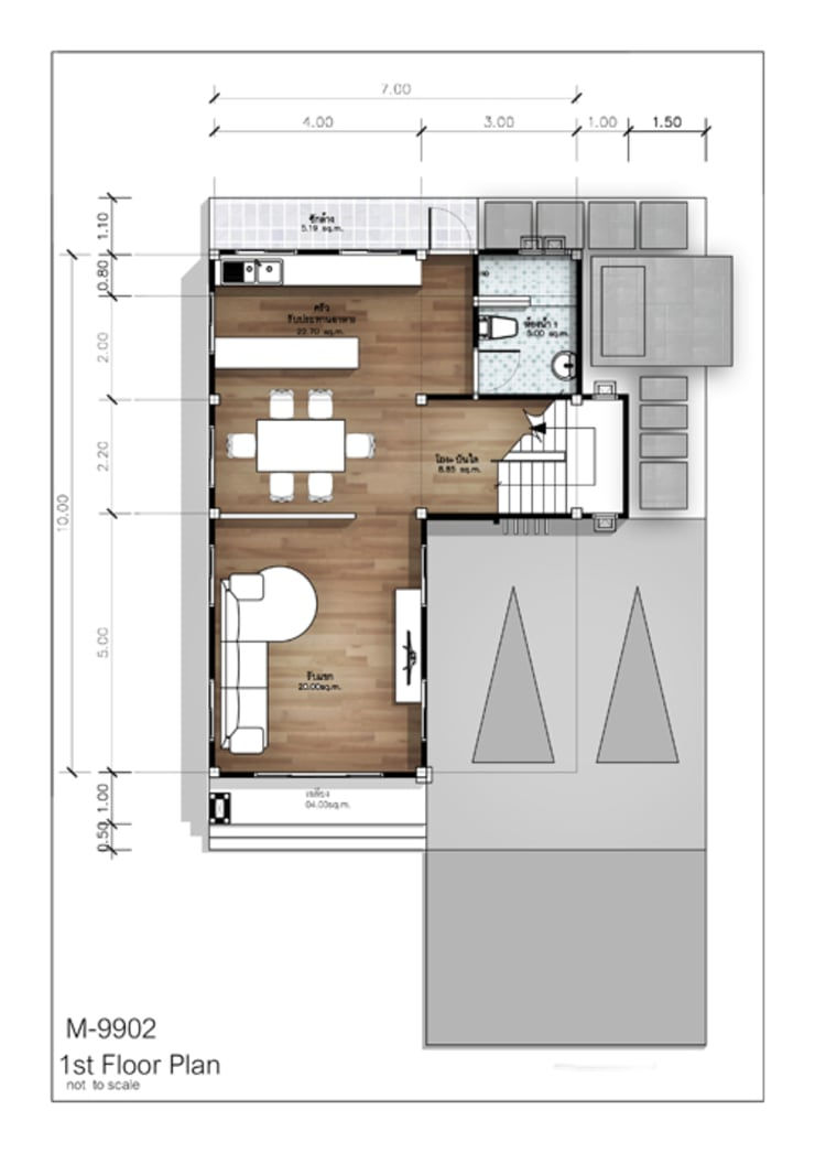 1st Floor Plan:   by At Mind House