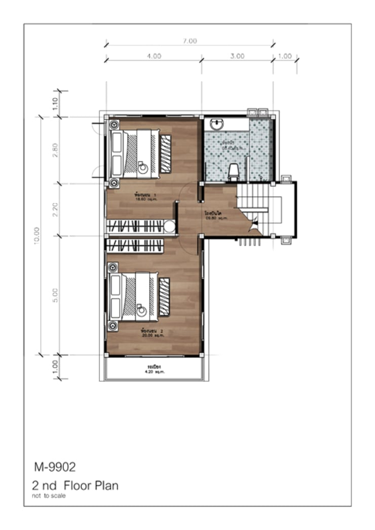 2nd Floor Plan:   by At Mind House