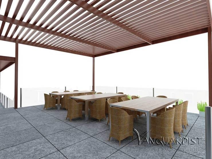 PROYECTO TERRAZA Y DISCOTECA LA PLANICIE – LIMA PERU: Terrazas de estilo  por Vanguardist Design Studio