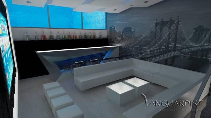 PROYECTO TERRAZA Y DISCOTECA LA PLANICIE – LIMA PERU: Salas de entretenimiento de estilo  por Vanguardist Design Studio