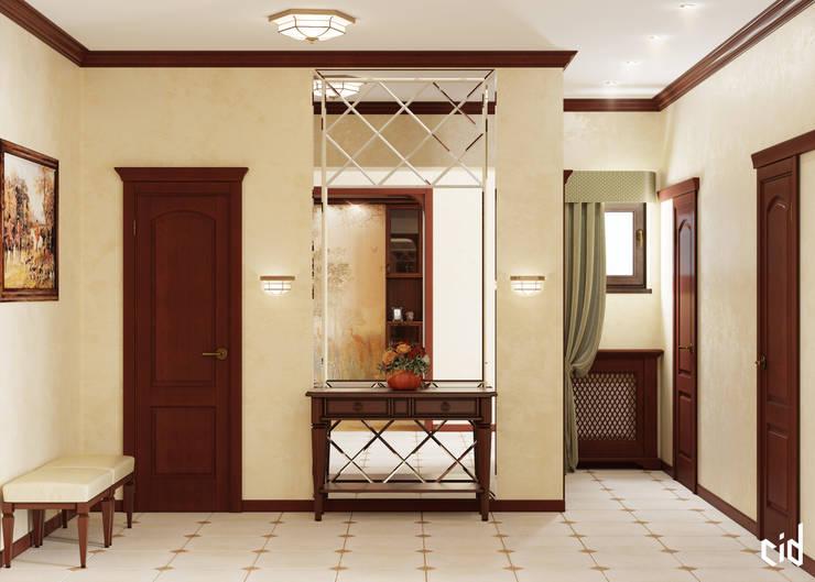 Couloir et hall d'entrée de style  par Center of interior design,