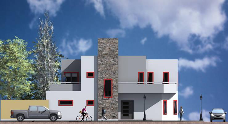 Vivienda BF: Casas de estilo  por MRArquitectura,