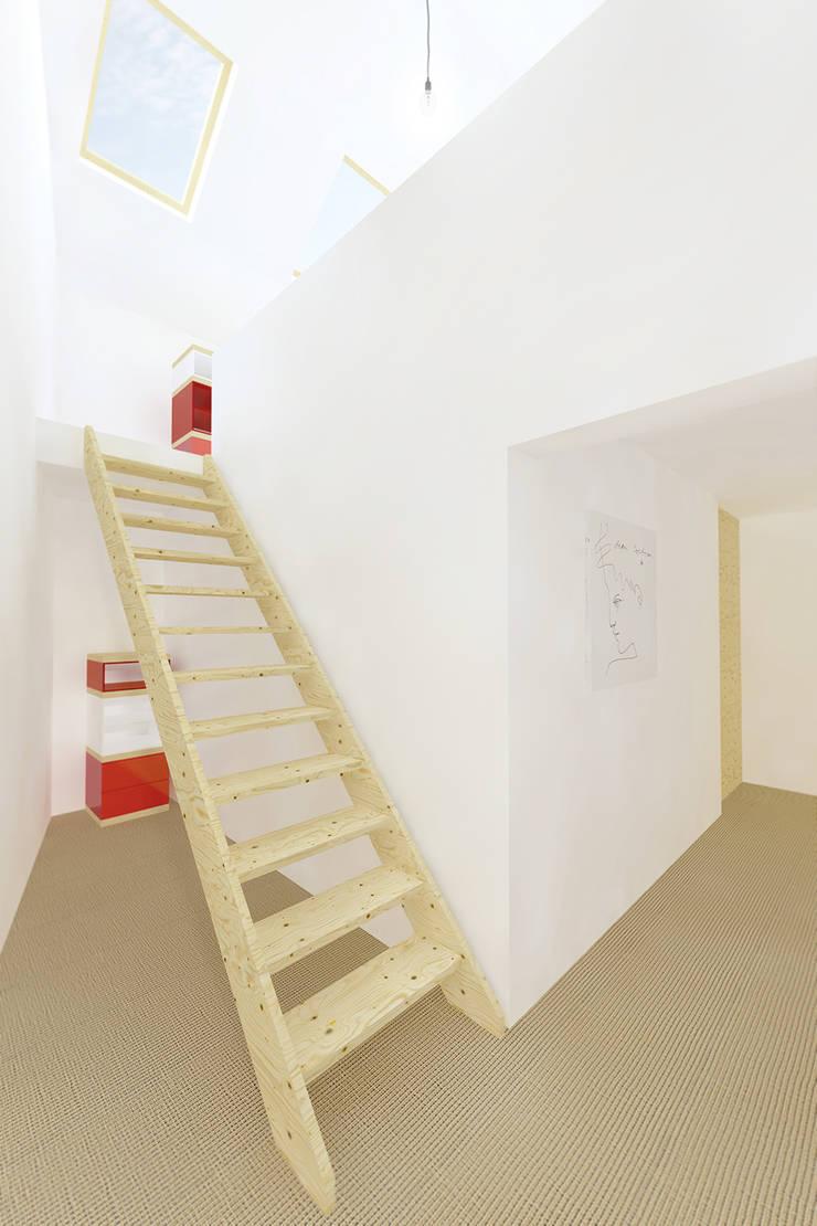 Trap naar zolderverdieping:  Gang en hal door De Nieuwe Context