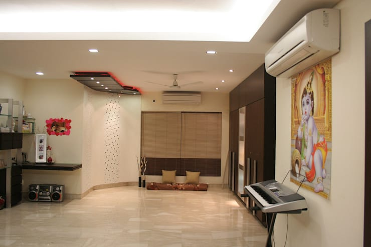 Interior:  Living room by Bss Design and Interiors Pvt.Ltd,Modern