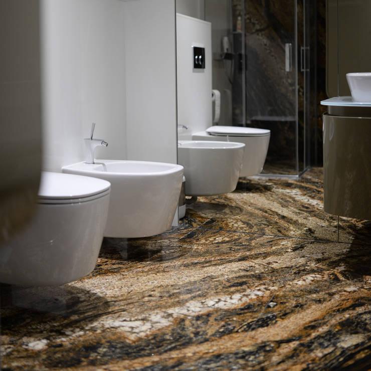 Łazienka Magma Gold: styl , w kategorii Łazienka zaprojektowany przez KRY_