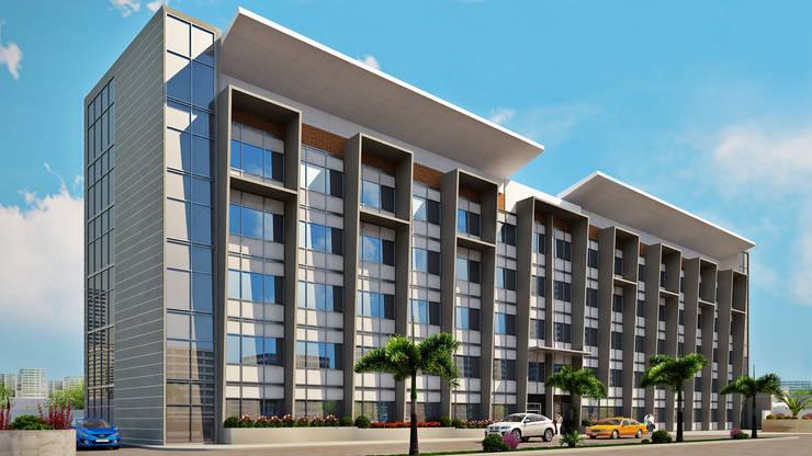 Hotel Alta Vista: Casas de estilo  por Idearq