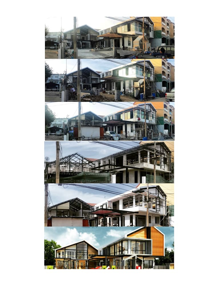 JOB PROGRESS:  โรงรถและหลังคากันแดด by  good space  plus interiror- architect co.,ltd