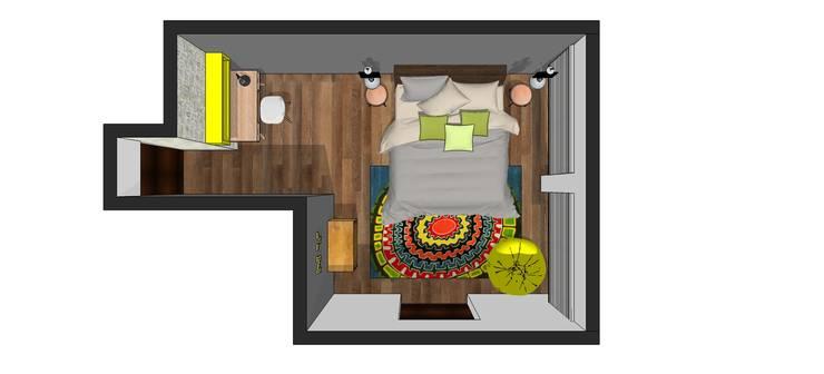 PROPUESTA RECÁMARA: Recámaras infantiles de estilo  por Lasso Design Studio